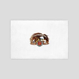 firefighter eagle 4' x 6' Rug