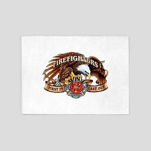 firefighter eagle 5'x7'Area Rug