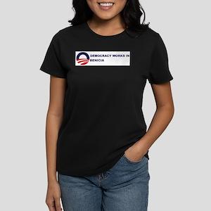 Democracy Works in BENICIA Women's Dark T-Shirt