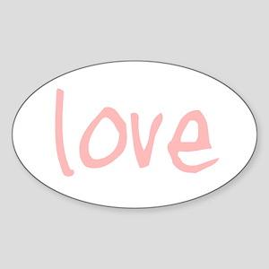 Love Oval Sticker