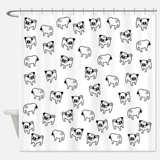 Pug or pugs Shower Curtain