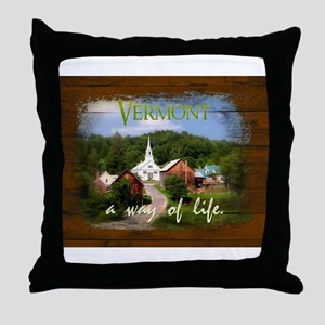 Vermont A Way of Life Throw Pillow