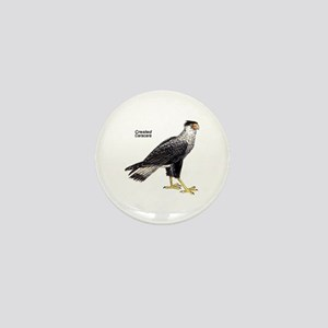 Crested Caracara Bird Mini Button