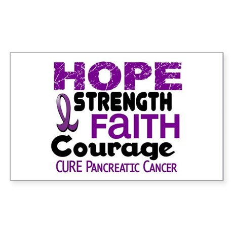 HOPE Pancreatic Cancer 3 Rectangle Sticker