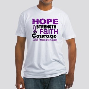 HOPE Pancreatic Cancer 3 Fitted T-Shirt