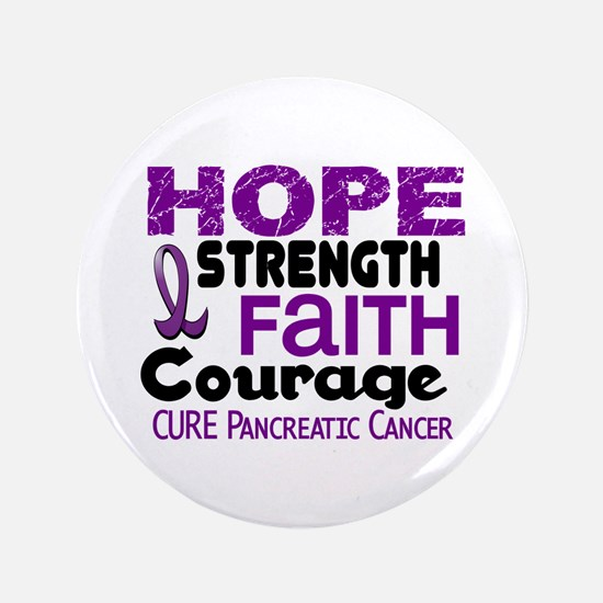 """HOPE Pancreatic Cancer 3 3.5"""" Button (100 pack)"""