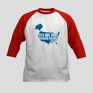Obama Yes We Did Kids Baseball Jersey