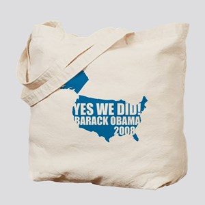 Obama Yes We Did Tote Bag