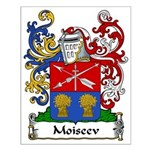 Moiseev Family Crest Small Poster