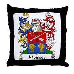 Moiseev Family Crest Throw Pillow