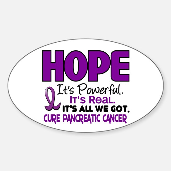 HOPE Pancreatic Cancer 1 Oval Decal