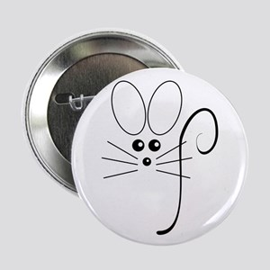 "Black Mouse 2.25"" Button"