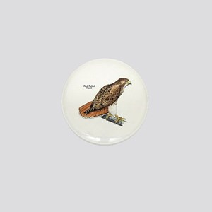Red-Tailed Hawk Bird Mini Button