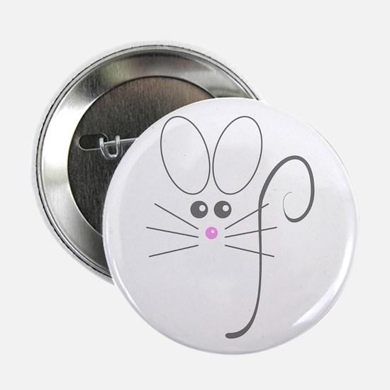 "Gray Mouse 2.25"" Button"