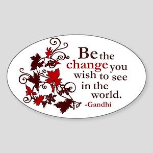 Gandhi Oval Sticker