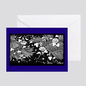Japanese Stencil Design Greeting Card