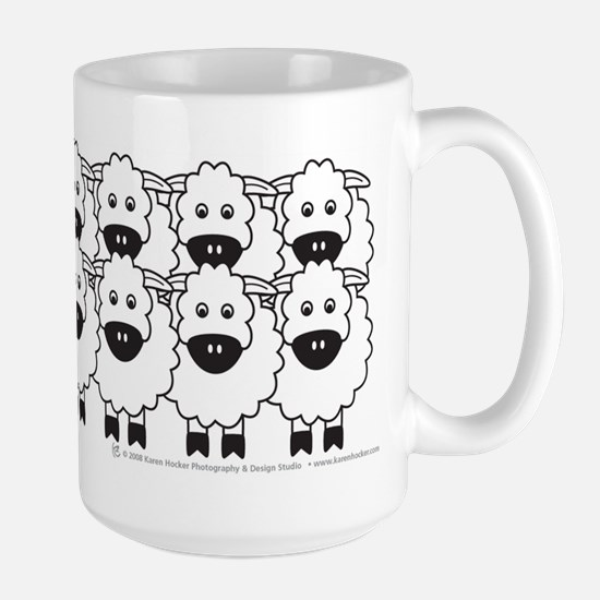 Cattle Dog and Sheep Large Mug