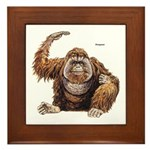 Orangutan Ape Framed Tile