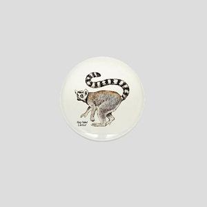 Ring-Tailed Lemur Mini Button