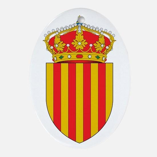 Cute Catalonia Oval Ornament