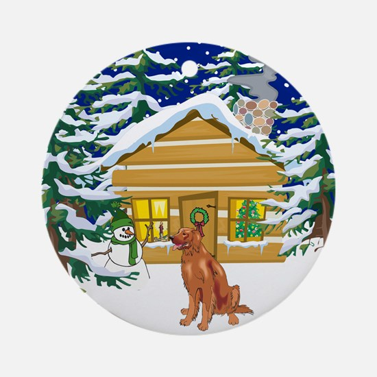 Old Fashioned Irish Setter Christmas Ornament (Rou