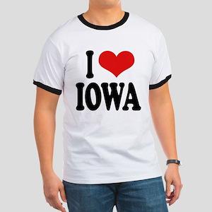 I Love Iowa Ringer T