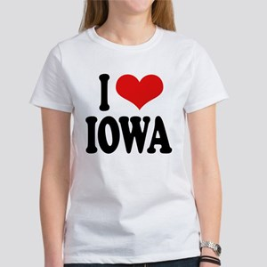 I Love Iowa Women's T-Shirt