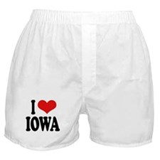 I Love Iowa Boxer Shorts