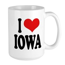 I Love Iowa Large Mug