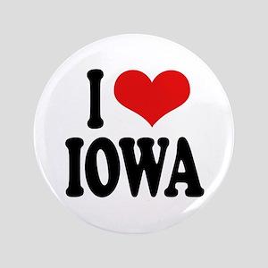 """I Love Iowa 3.5"""" Button"""
