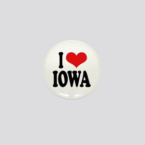 I Love Iowa Mini Button