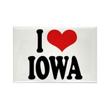 I Love Iowa Rectangle Magnet