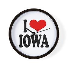 I Love Iowa Wall Clock