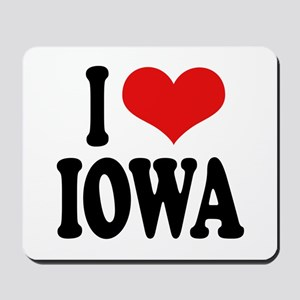 I Love Iowa Mousepad