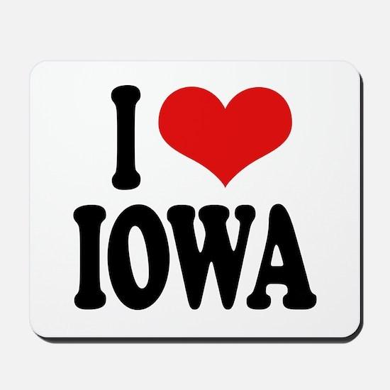 I Love Iowa Mousepad