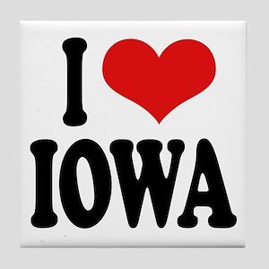 I Love Iowa Tile Coaster