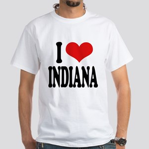 I Love Indiana White T-Shirt