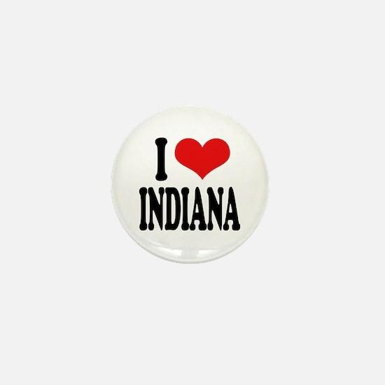 I Love Indiana Mini Button