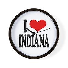 I Love Indiana Wall Clock