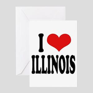 I Love Illinois Greeting Card