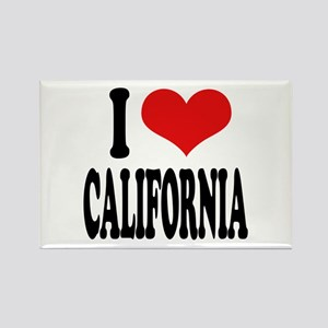 I Love California Rectangle Magnet