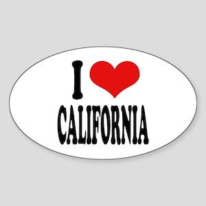 I Love California Oval Sticker