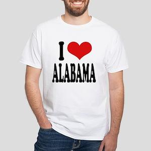 I Love Alabama White T-Shirt