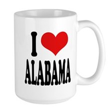 I Love Alabama Large Mug