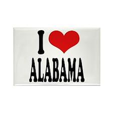 I Love Alabama Rectangle Magnet