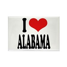 I Love Alabama Rectangle Magnet