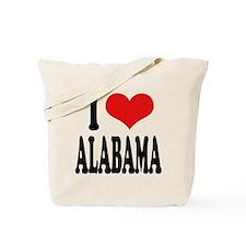 I Love Alabama Tote Bag
