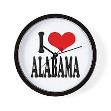 I Love Alabama Wall Clock