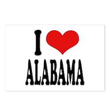 I Love Alabama Postcards (Package of 8)