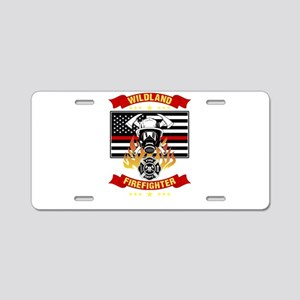 Wildland Firefighter Hero T Aluminum License Plate